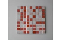 Piastrella Mosaico Stratos Rosso 20 x 20